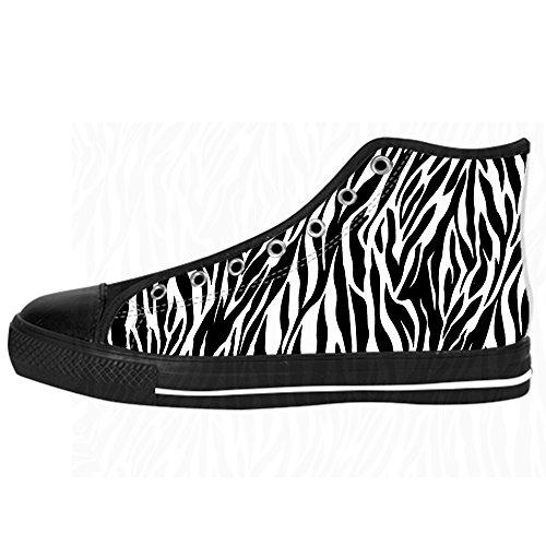 Delle Zebra Ginnastica I Lacci Tetto Stampa Alto Women's Scarpe Di Canvas Shoes Custom Da 8gadx8