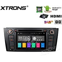 XTRONS HDMI Android 7.1 Quad Core 6.95 Inch HD Digital Touch Screen Car Stereo Radio DVD Player GPS for BMW E81/E82/E88