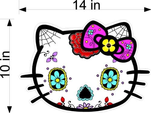Huge Hello Kitty Sugar Skull Sticker Decal