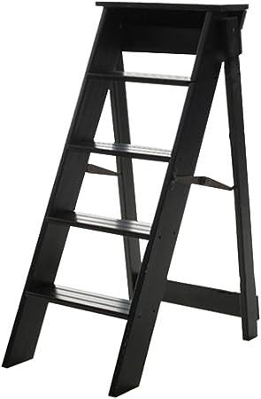 Taburetes escalera Escalera plegable de madera en el hogar Escalera de engrosamiento en el interior Escalera de cinco escalones Loft en el hogar Multifunción Escaleras pequeñas capacidad de carga 150: Amazon.es: Hogar