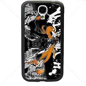 Bleach Manga Anime Comic Samsung Galaxy S4 SIV I9500 TPU Soft Black or White case (Black)