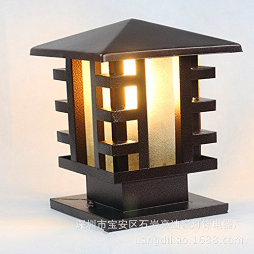 Fumimid Mode Led Garten Solar Lichtsäule Lampe Wand Säule Lampe