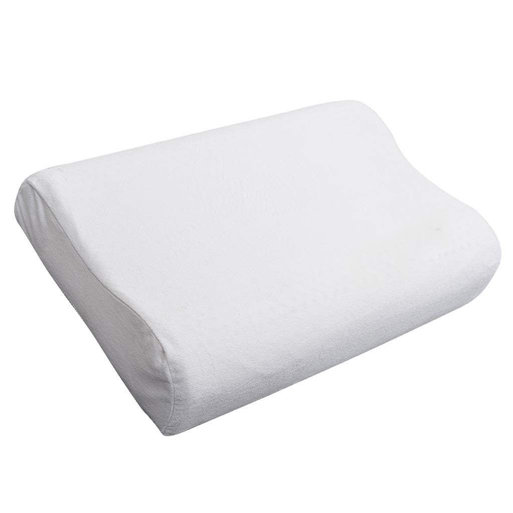 ZHAO YING Low and High Orthopedic Design Latex Pillow Adult Neck Pillow Rubber Pillow Natural Latex (40 60cm) (Color : White)