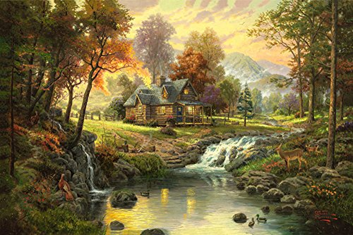 Landscape Oil Painting Prints On Canvas Gorgeous Natural Scenery Wall Art Picture For Living Room Home Decoration ,20x16 Inches (Oil Scenery Painting)