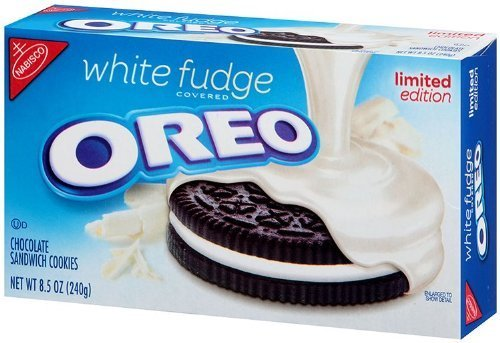Nabisco, Oreo, White Fudge Covered Oreos, Limited Edition, 8.5oz Box (Pack of 4) by NABISCO