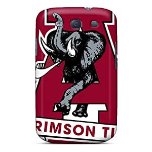 For ZUJ2630mjLU Alabama Crimson Tide Logo Protective Case Cover Skin/Galaxy S3 Case Cover