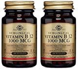 Solgar Vitamin B12 1000 mcg Nuggets, 100 Nuggets 1000mcg (Pack of 2)