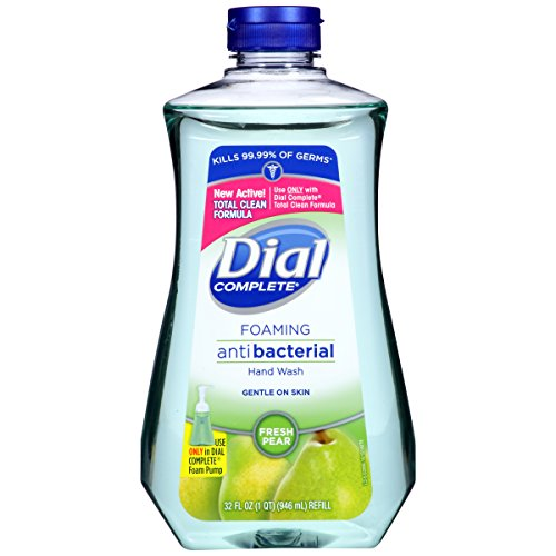 Dial Complete Antibacterial Foaming Hand Wash Refill, Fresh Pear, 32 Ounce (Pack of - Hand Soap Foam