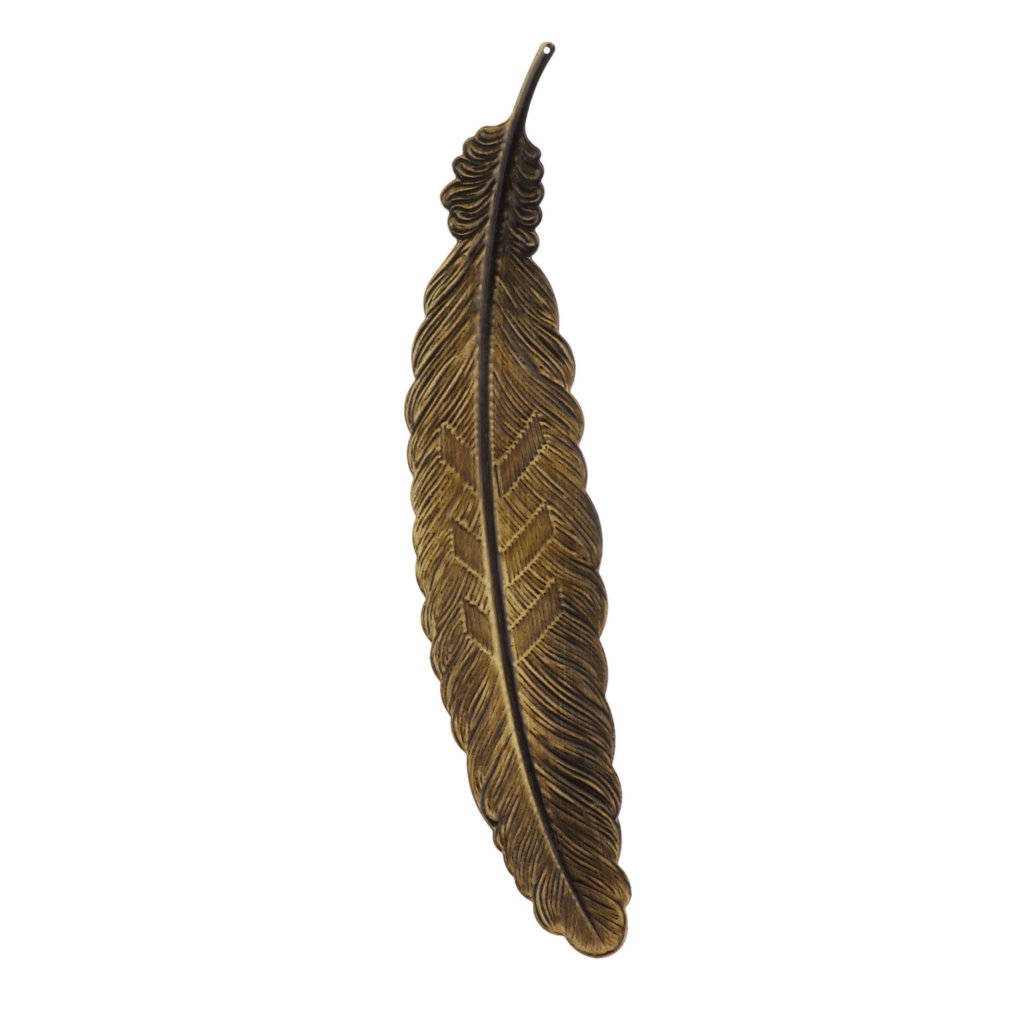 MagiDeal Metal Feather Creative Ultra-thin Bookmarks Stationery Office Supplies