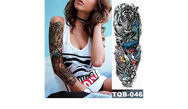 Modeganqing Conjunto de 3 Brazos Grandes Tatuaje Rosario Rosa ...
