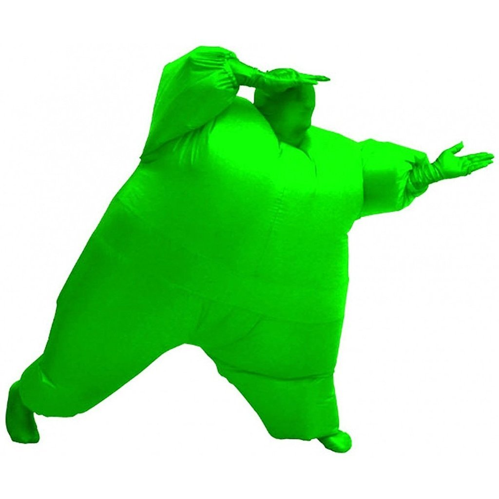 Funny Adult Inflatable Costume Suit Ride Me Inflatable Animal Fancy Dress Jumpsuit,Inflatable Full Body Costume,Green