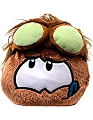 Disney Club Penguin 4 Inch Series 11 Online Exclusive Plush Puffle Brown with Goggles Includes Coin with Code!