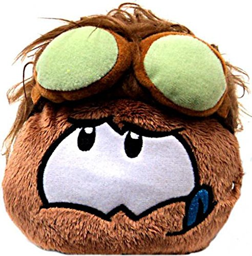 Disney Club Penguin 4 Inch Series 11 Online Exclusive Plush Puffle Brown with Goggles Includes Coin with Code! ()