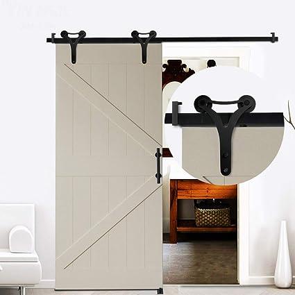 GWXFHT Herraje para Puerta Corredera Kit Kit de Hardware de riel Colgante de Puerta de Granero de 100-240 cm, Juego de Accesorios completos para rieles de Puertas corredizas de Cocina: Amazon.es: Hogar