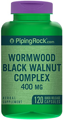 Wormwood Black Walnut Complex 400 mg 120 Capsules - Potency Green Tea