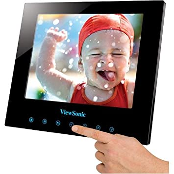 viewsonic dpg807bk 8 inch 512 mb swiftouch multimedia digital photo frame