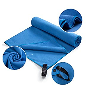 Healthy-Home Microfiber Travel Towel with Liberty Bag. Fast Drying - Super Absorbent - Ultra Compact. Suitable for Sports, Sweat, Workout, Gym, Yoga, Golf, Swimming, Beach, Camping, Backpacking.