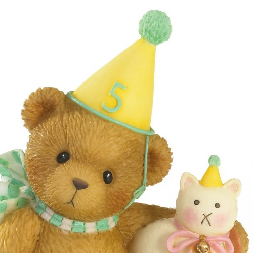 Cherished Teddies ''A Purrfect Day to Be Five'' Through the Years/age 5 Figurine