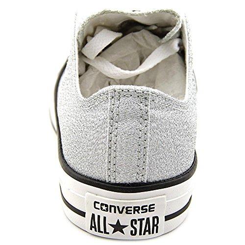 Converse Mens Sneakers Ox In Pelle Scamosciata Stella Argento