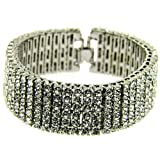 MCSAYS Fashion Hip Hop SIX ROW Rhinestone CZ Crystal Tennis Chain Men's Bling Bling Bracelet Iced out