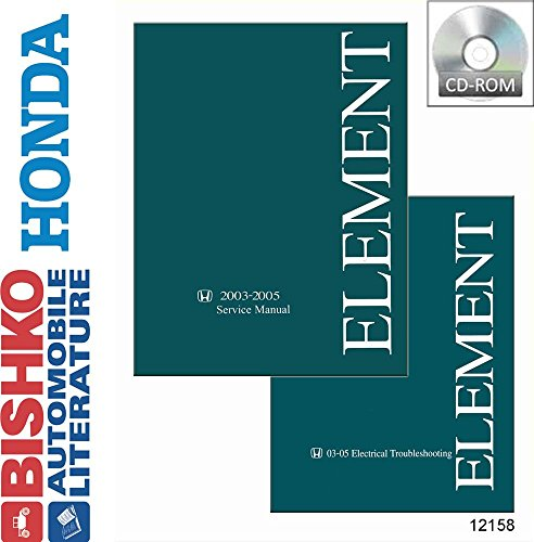 bishko automotive literature 2003 2004 2005 Honda Element Shop Service Repair Manual CD Engine Electrical OEM