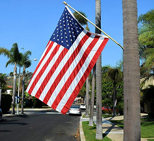 American Flag 3x5 ft - Heavy-Duty US Flag - Embroidered Stars - Nylon USA Flag Built for Outdoors - Sewn Stripes - UV Protection - Brass Grommets by NatFlag (Image #7)