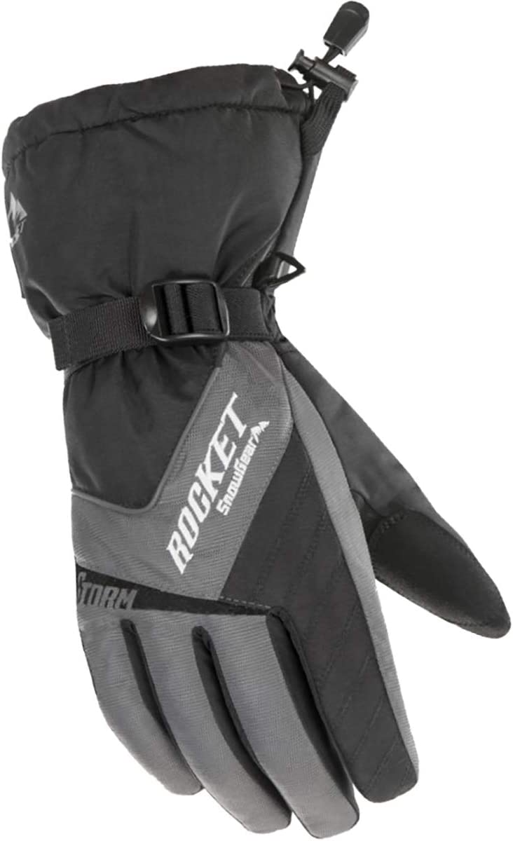 Discount mail order Joe Rocket Storm Men's Snowmobile Black Gloves - Gray Indianapolis Mall 2X-Large