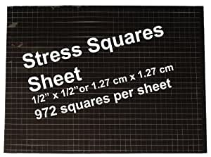 Stress Squares - 1 SHEET Stress Squares, 972 per sheet