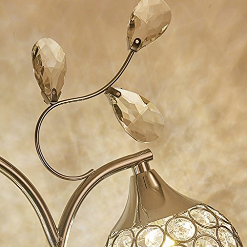 MOMO Led Kreative Kristall Tischlampe Dekoration Schlafzimmer Nachttischlampe Schreibtischlampe Luxus Kristall Licht by MOMO (Image #4)