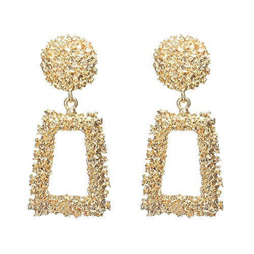 Geometric Dangle Earrings Drop Round Hoops Ear Studs Simple Tassel Dangling Earrings Cuffs Women Girls Birthday Gift Long Trendy Minimalist Charms Jewelry Golden Plated