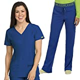 Med Couture Activate Women's Refined V-Neck Scrub Tops & Activate Flow Cargo Pant Set