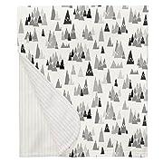 Carousel Designs Gray Mountains Crib Blanket