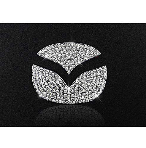 2015-2019 TopDall Steering Wheel Unique Crystal Badge Emblem Bling Decal Decoration Cover Sticker Trim for Mazda 3,5,6 CX-5,CX-7,CX-8