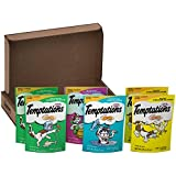 TEMPTATIONS Classic Cat Treats Feline Favorites Variety Pack, (6) 3 oz. Pouches