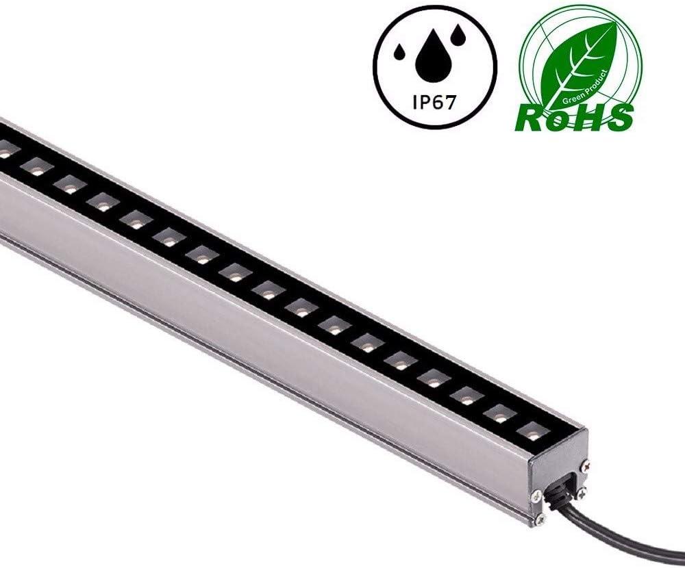 XMIMI Luz de línea LED iluminación del Cuerpo del Edificio luz de Contorno Monocromo 6w / 12w bañador de Pared Barra de luz Baja tensión 24V Exterior IP67 Aluminio Impermeable LED Luz Lineal