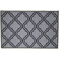 Kashi Home Royal Collection Geometric Egyptian Decorative Accent Area Rug, Grey, 20 x 30