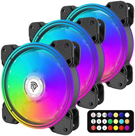 120mm PC Fan,Computer Case Fan 3120mm LED RGB Silent Fan-Advanced Lighting Customization with 7 Colors and 10 Lighting Modes-Pwm High-Performance Cooling Fan for Pc Case Computer Fans