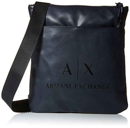 Armani Exchange Men's Eco- Nappa Crossbody Accessory, -blue/black, - For Bags Men Armani Exchange