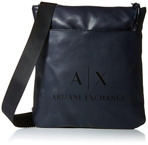 Armani Exchange Men's Eco- Nappa Crossbody Accessory, -blue/black, - Armani Bag Mens