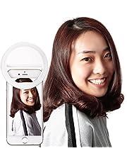 Neewer Luz de Anillo con Soporte de Teléfono para Transmisión en Vivo, Regulable (3-luz Modo, 8-Nivel Brillo) Abrazadera en Selfie Luz para Youtube, Facebook, iPhone 8/7/6S,Samsung