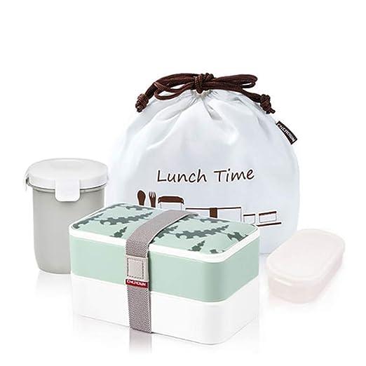 Juego de caja de almuerzo con vajilla Paquete de microondas ...