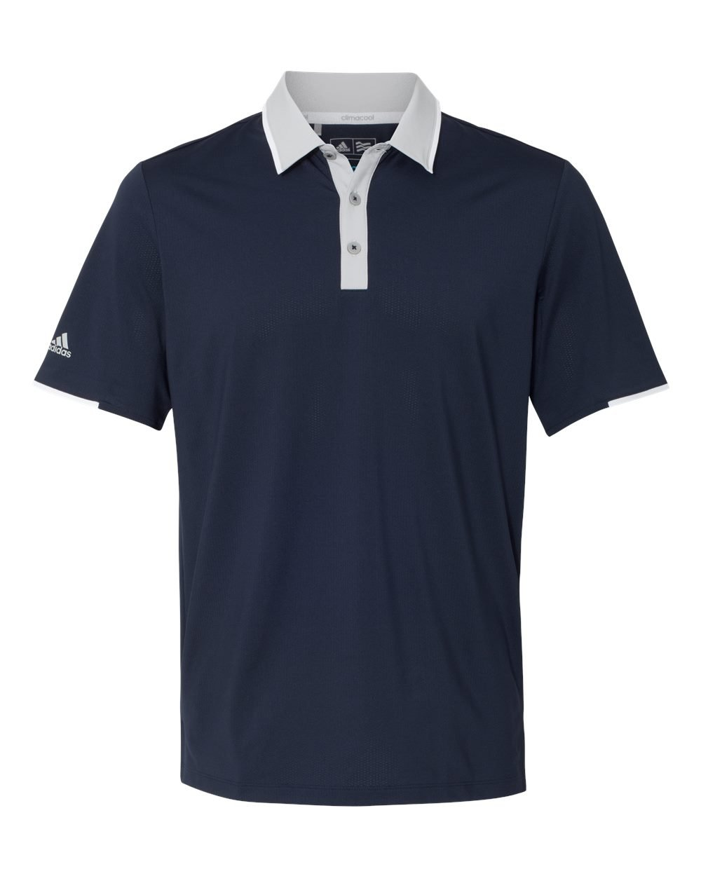 adidas Golf Mens Climacool Performance Polo (A166) -Navy/Stone -3XL