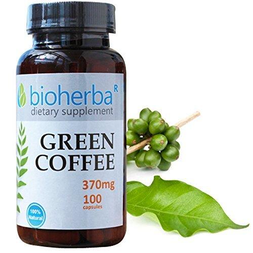 Green Coffee, 370 mg, 100 capsules by Bioherba (370 Mg 100 Capsules)