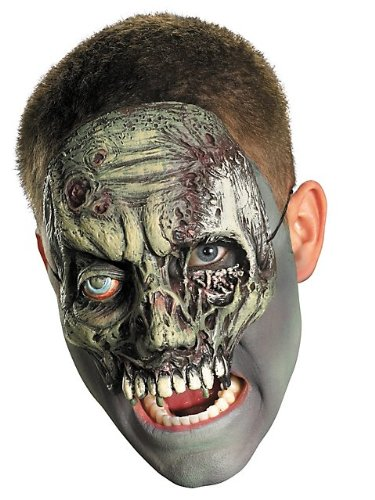 Disguise Costumes Chinless Walking Zombie Vinyl Mask, Adult (Crazy Mask)