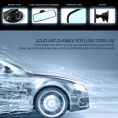 IBISHITAOXUNBAIHUOD Universal Car specchietto retrovisore grandangolare specchio retrovisore Auto Interni Specchietto retrovisore Con PVC Sucker CZC-100
