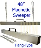 48'' Hang Hanger Magnetic Sweeper Roadmag Pick Up Tool Hanging Chains Magnet Bar