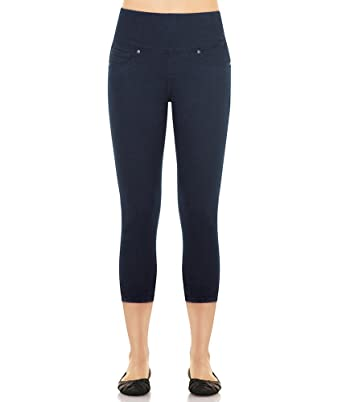 SPANX Denim Crop Legging (2391) at Amazon Women's Clothing store: