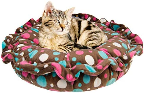 Bessie Barnie Ultra Plush Deluxe Cake Pop Lollipop Pet Lily Pod Cat Bed