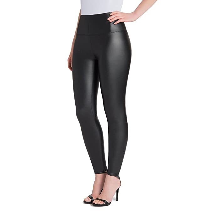 hot products 100% satisfaction men/man Samuel Plus Size Faux Leather Leggings Womens High Waisted Leather Pants  Stretchable Tummy Control Black Leggings