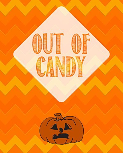 13x19 Out of Candy Print Pumpkin Picture Halloween